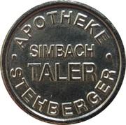 Simbach Taler - Stehberger Apotheke (Simbach) – reverse