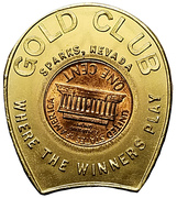 Encased Penny - Gold Club (Sparks, Nevada) – reverse