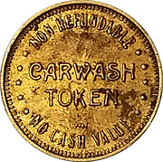 Carwash Token - Moonlite Carwash (Mountain View, California) – reverse