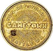 Token - Gametown (Seattle, Washington) – reverse