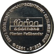 Pharmacy Token - Florian Apotheke (Koblenz) – reverse
