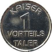 1 Kaiser Taler - Kaiser Apotheke – reverse