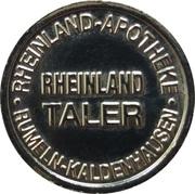 Rheinland Taler - Rheinland Apotheke (Rumeln-Kaldenhausen) – reverse
