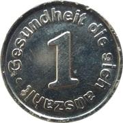 1 Webers Gesundheitsmünze (Harburg) – reverse