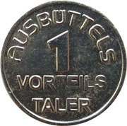 1 Vorteils Taler - Ausbüttels – reverse