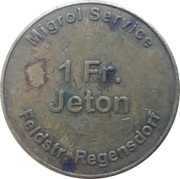 1 Franc - Migrol (Regensdorf) – reverse
