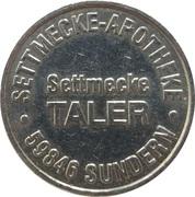 Settmecke Taler - Settmecke Apotheke (Sundern) – reverse