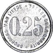 25 Centimes - Broeders Van Liefde – reverse