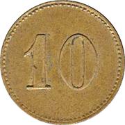 10 Pfennig - Restaurant Math. Nobis (Schelsen am Düvel, Mönchengladbach) – reverse