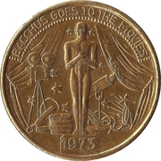 Mardi Gras Token - Bacchus goes to the movies (New Orleans, Louisiana) – obverse
