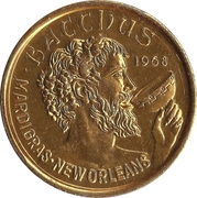 Mardi Gras Token - Bacchus goes to the movies (New Orleans, Louisiana) – reverse