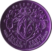 Mardi Gras Token - Endymion (Come to the Mardi Gras; New Orleans, Louisiana) – reverse