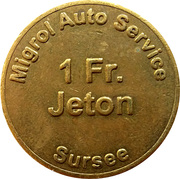 1 Franc - Migrol (Sursee) – reverse