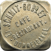 Token - Café-Restaurant Schmit-Goblet (Dommeldange) – obverse