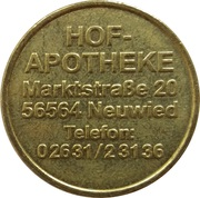 Pharmacy Token - Hof Apotheke (Neuwied) – reverse