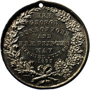 Marriage Medal of George Duke of York and Princess May – reverse