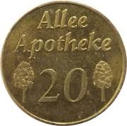 Pharmacy Token - Allee Apotheke 20 – obverse