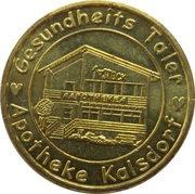 Gesundheits Taler - Apotheke Kalsdorf (Kalsdorf bei Graz) – reverse