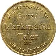 Markgrafen Taler - Marien Apotheke (Burgau) – reverse