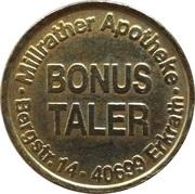 Bonus Taler - Millrather Apotheke (Erkrath) – reverse