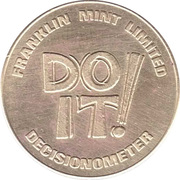 Token - Decisionometer (Franklin Mint Limited) – reverse