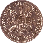 New Year Lucky Token - Sacher Hotel – obverse