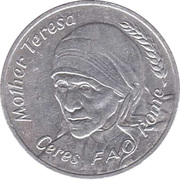 Token - Ceres FAO Rome (Mother Teresa) – obverse