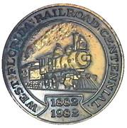 Token - Pensacola and Atlantic railroad – reverse