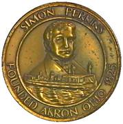 Token - Simon Perkins - Founder Akron Ohio – obverse