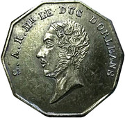 Token - Death of the Duke of Orleans – obverse