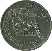 Mardi Gras Token - Krewe of Jabolina (Jackson Square; New Orleans, Louisiana) – reverse