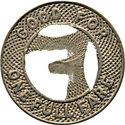 1 Fare - San Antonio Public Service Co. (San Antonio, Texas) – reverse