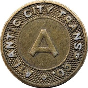 1 Fare - Atlantic City Transp. Co. (Atlantic City, New Jersey) – obverse