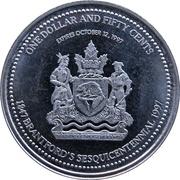 1½ Dollars - Brantford's Sesquicentennial – obverse