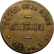 Token - Hôtel de la Sûre (Moersdorf) – obverse