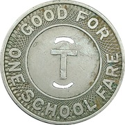 1 School Fare - Trenton Transit (Trenton, New Jersey) – obverse