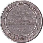 10 Cent Gaming Token - Cunard Line Ltd. – obverse