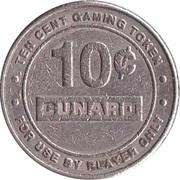 10 Cent Gaming Token - Cunard Line Ltd. – reverse