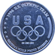 Token - Atlanta 1996 US Olympic Team, General Mills Sponsor (Cycling) – reverse