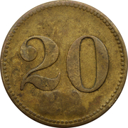 "20 Centimes (Werth-Marke; Countermarked ""AN""; Luxembourg) – reverse"