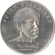 Esso Token - 1990 England World Cup Collection (Peter Beardsley) – obverse