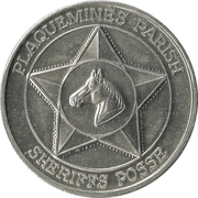 Mardi Gras Token - Sheriffs Posse (Plaquemines Parish, Louisiana) – reverse
