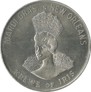 Mardi Gras Token - Krewe of Iris (That's What I like about the South; New Orleans, Louisiana) – reverse