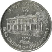 Mardi Gras Token - Elks Krewe of Orleanians (Pitot Mansion; New Orleans, Louisiana) – obverse