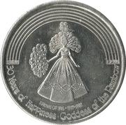Mardi Gras Token - Krewe of Iris (30 Years of Happiness - Goddess of the Rainbow; New Orleans, Louisiana) – obverse
