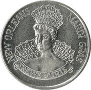 Mardi Gras Token - Krewe of Iris (30 Years of Happiness - Goddess of the Rainbow; New Orleans, Louisiana) – reverse