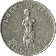 Mardi Gras Token - Krewe of Venus (Maria Theresa; New Orleans, Louisiana) – reverse