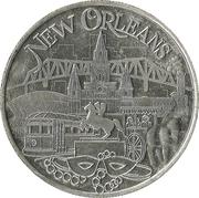 Mardi Gras Token - Lady Godiva (New Orleans, Louisiana) – reverse