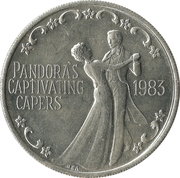 Mardi Gras Token - Krewe of Pandora (Pandora's Captivating Capers; New Orleans, Louisiana) – obverse