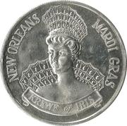 Mardi Gras Token - Krewe of Iris (Your Home Town Newspaper; New Orleans, Louisiana) – reverse